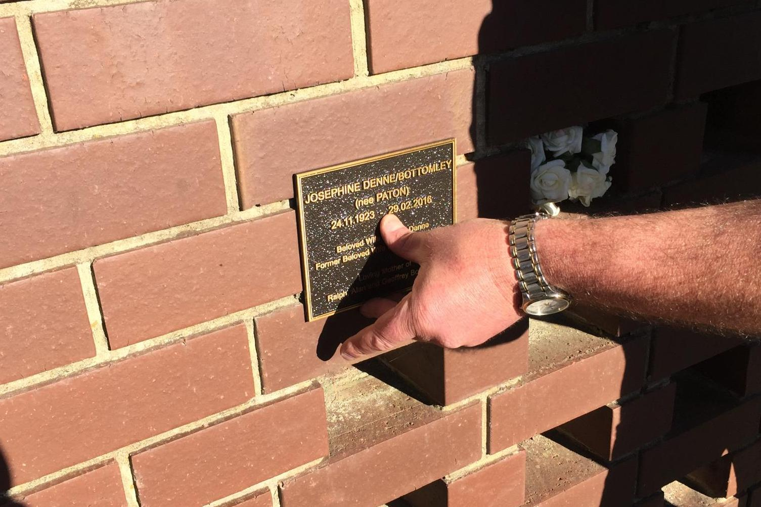 Installed plaque